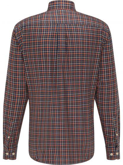 1220-8090 Flannel Combi Check Back Terracotta