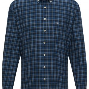 1220-8090 Flannel Combi Check Navy
