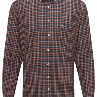 1220-8090 Flannel Combi Check Terracotta
