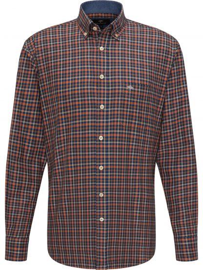 1220-8090 Flannel Combi Check Terracotta