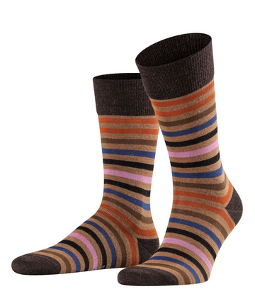 Falke Tinted Stripe Brown