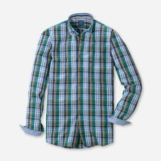 Olymp Casual Check Green