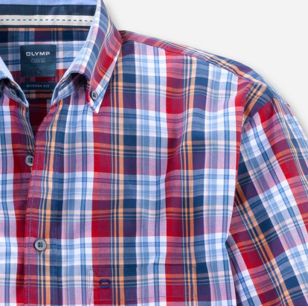 Olymp Casual Check Red
