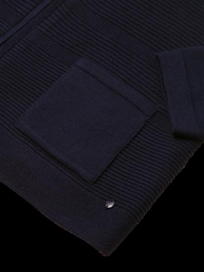 11000218-40169 Zip Cardigan Pocket Detail
