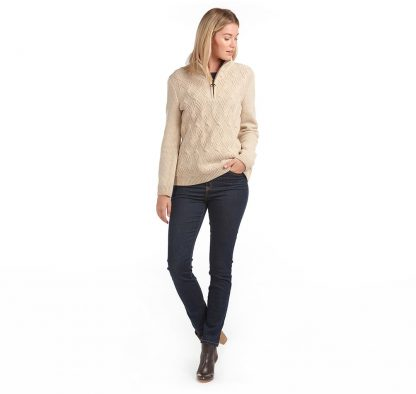 Barbour Ingham 1/4 Zip Oatmeal