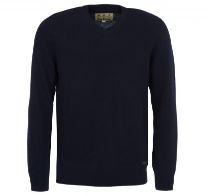 Barbour Nelson Essential V Neck Navy