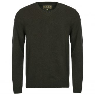 Barbour Nelson Essential V Neck Seaweed