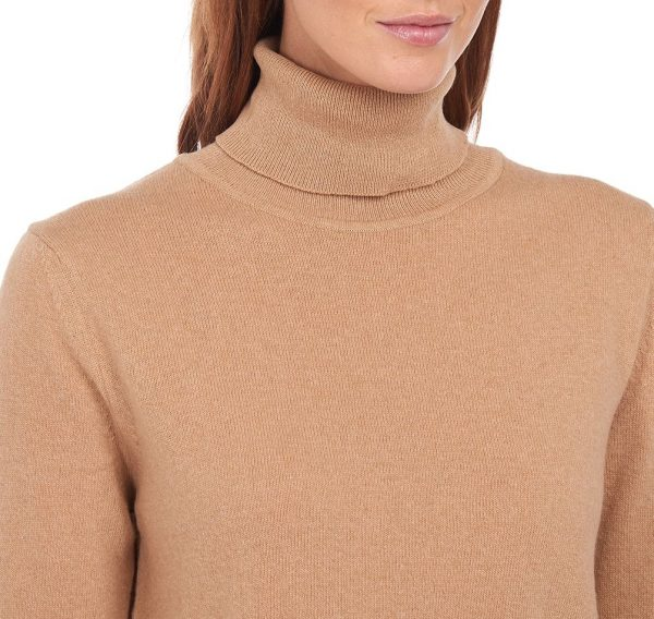 Barbour Pendle Roll Neck Caramel