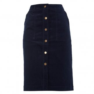 Barbour Rebecca Cord Skirt Navy