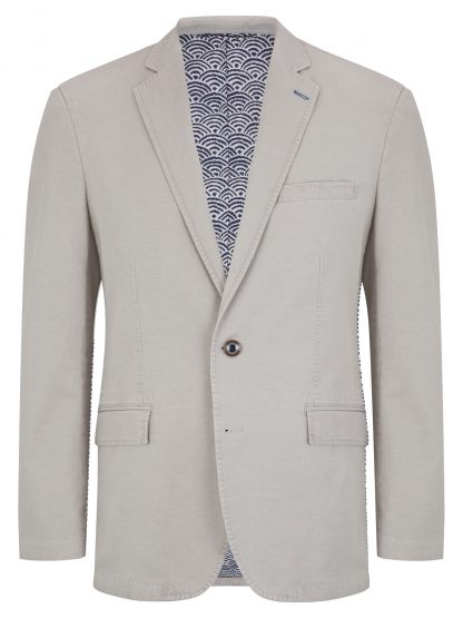 Barcelona Cotton Jacket Light Grey