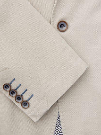 Barcelona Cotton Jacket Light Grey