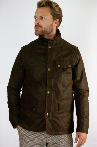 Bexley Wax Jacket Brown