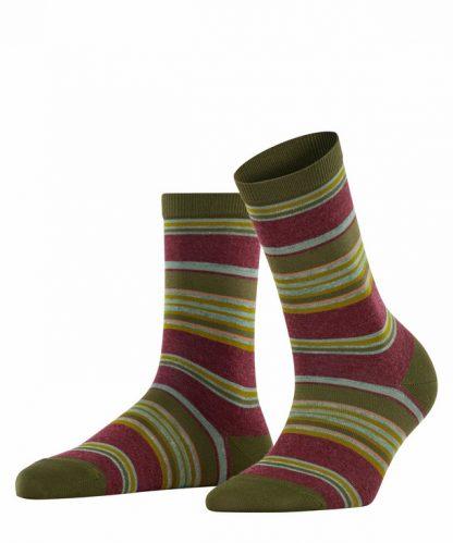 Falke Stripe Socks Green