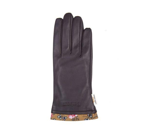 LGL0098BR91 Barbour Laura Ashley Poplars Leather Gloves