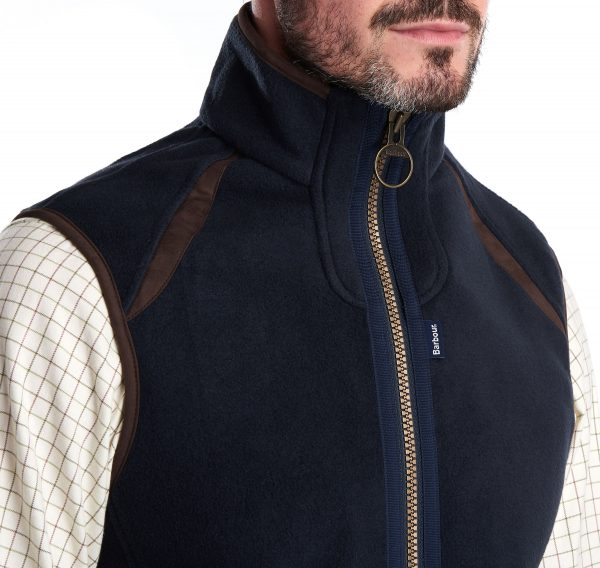 MFL0079NY71 Barbour Langdale Fleece Gilet Navy