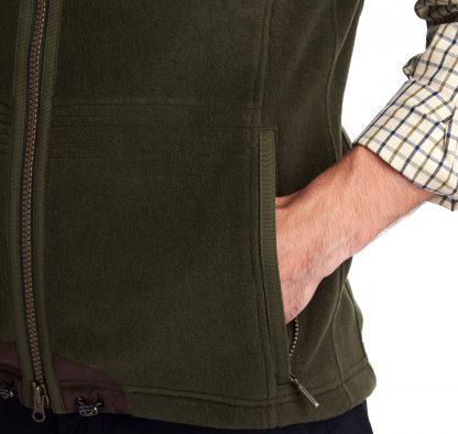 MFL0079OL71 Barbour Langdale Fleece Gilet Olive