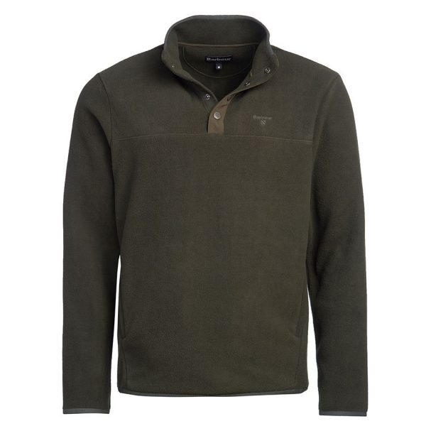 MFL0110GN91 Barbour Fleece Half Snap Forest