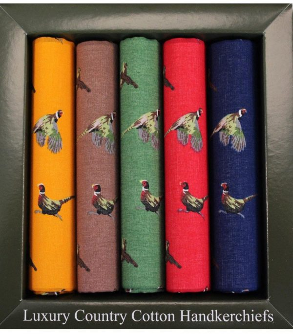 Pheasant Handkerchief Set
