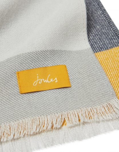 212606_CMGRYYCHCK Joules Checked Scarf