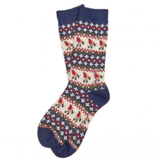 LSO0077NY55 Barbour Robin Fairisle Socks