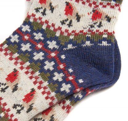 LSO0077NY55 Barbour Robin Fairisle Socks