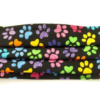 Multi-coloured Paw Prints Facemask