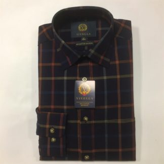 Viyella Large Tattersall Check Navy
