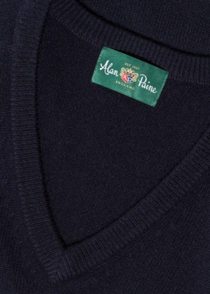 Alan Paine Vee Neck Navy