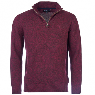 Barbour Half Zip Merlot