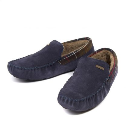 Barbour Monty Slippers Navy