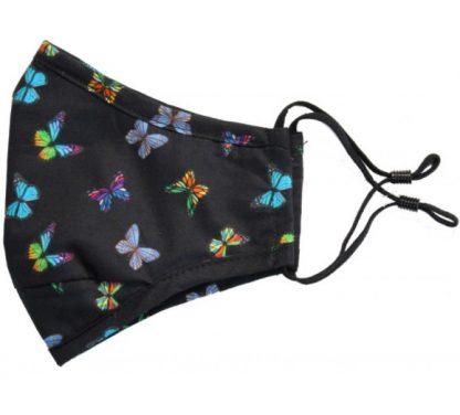 Butterflies Facemask Black