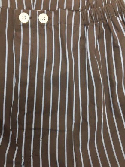 Derek Rose Cotton Pyjamas Brown