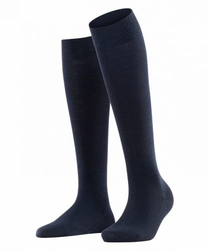 Falke Soft Merino Knee Highs Navy