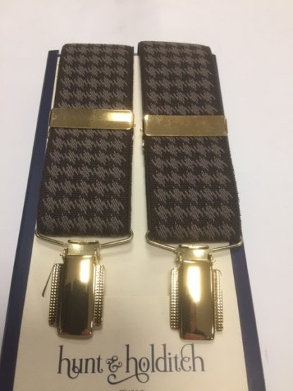 Houndstooth Braces Brown