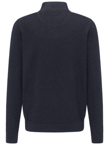 Woven Cotton 1/4 Zip Navy