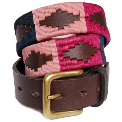 Pioneros Argetinian Polo Belt Berry