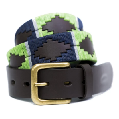 Pioneros Argetinian Polo Belt Lime