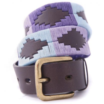 Pioneros Argetinian Polo Belt Pale Blue