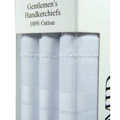 Pyramid White Handkerchiefs