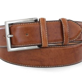 Robert Charles Stitched Edge Belt Tan