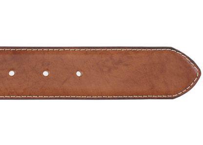 Robert Charles Stitched Edge Belt Tan