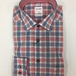 1008_14 Olymp Check Shirt Red