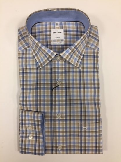 1016 Olymp Fawn-Blue Check