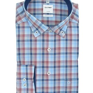 1024_24_38 Olymp Check Shirt Red