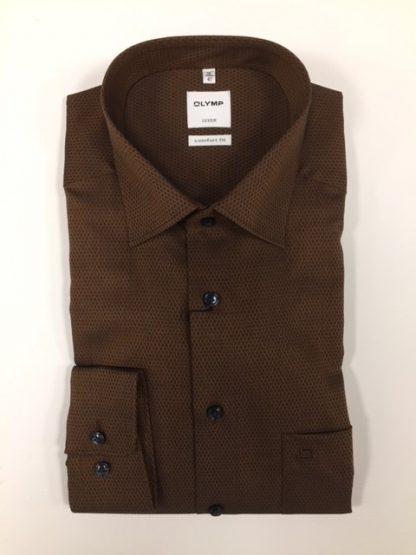 1082_54 Olymp Cotton Shirt Bronze