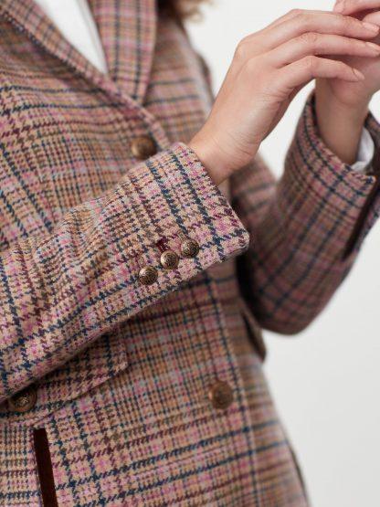209147_PINKTWEED Joules Windsor Hacking Coat Pink