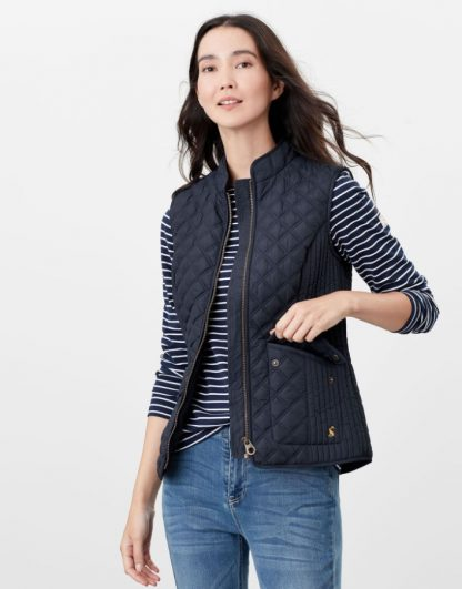 Joules Minx Quilted Gilet Navy