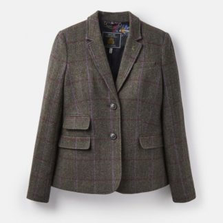 Joules Wiscombe Tweed Blazer Green