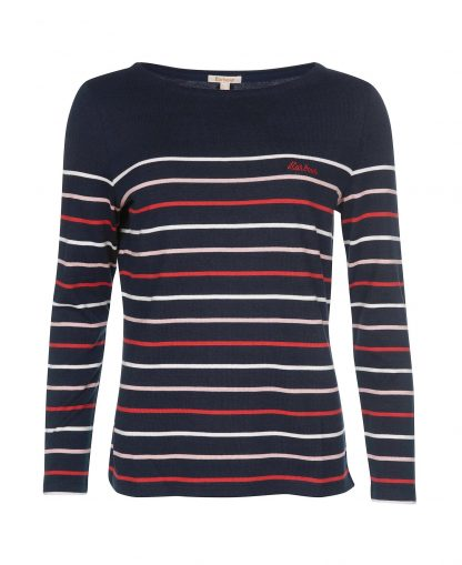 LML0701NY74 Barbour Hawkins Stripe Top Navy