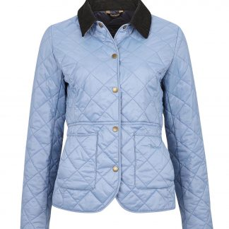 LQU1012BL32 Barbour Deveron Quilt Blue